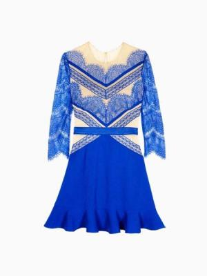 Luxurious Splice Lace Pattern Dress | Choies