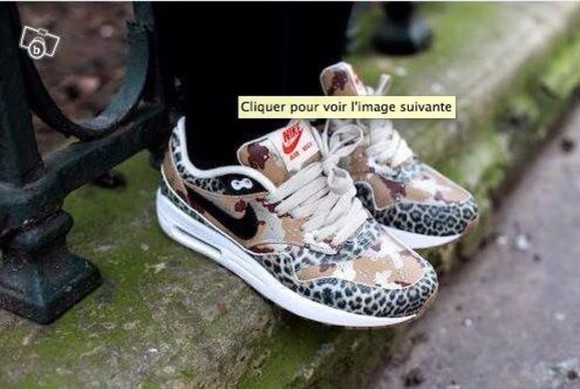 shoes beautiful beige shoes nike nike air max 1 nike air air max leopard print safari black and white