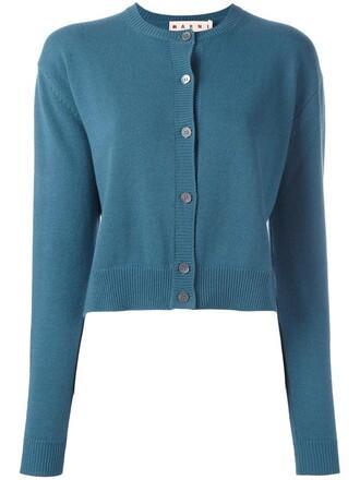 cardigan women blue wool sweater