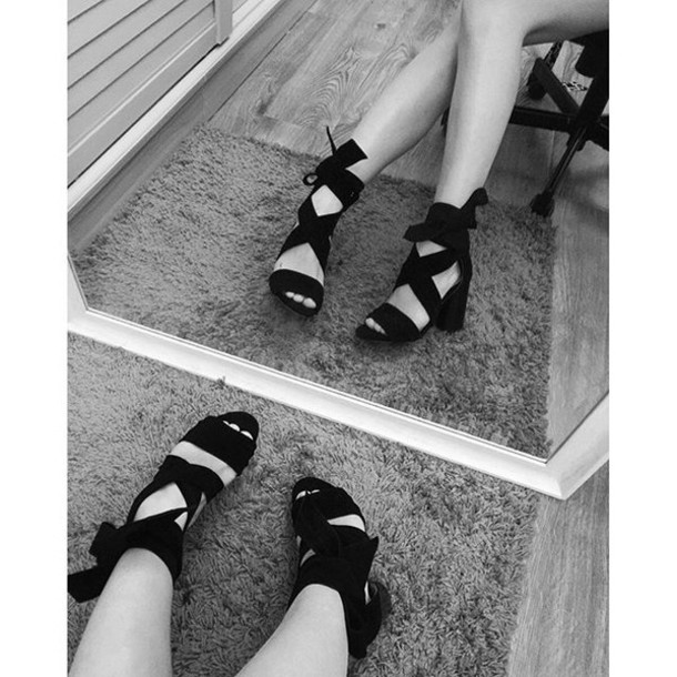 c94bceda90 shoes raye black strappy bow lace up talons low heel exclusive revolve suede  heels strappy heels