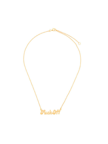 True Rocks women necklace gold grey metallic jewels