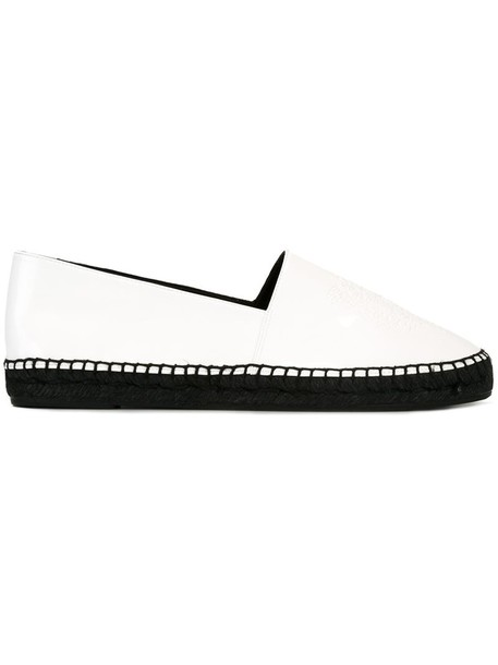 women tiger espadrilles leather white shoes