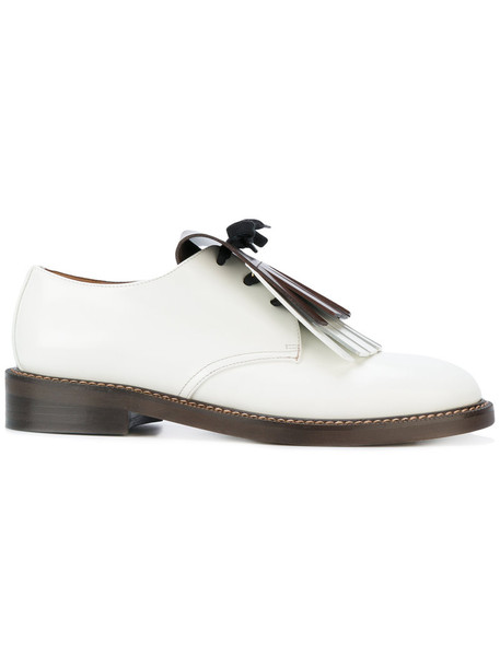 MARNI women loafers leather white shoes