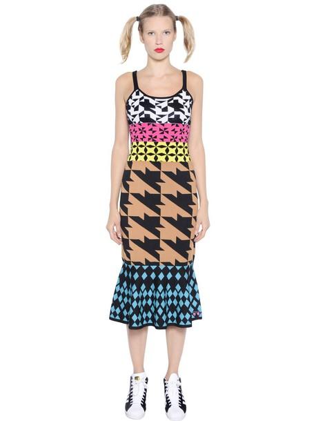 GABRIELAB dress jacquard geometric cotton