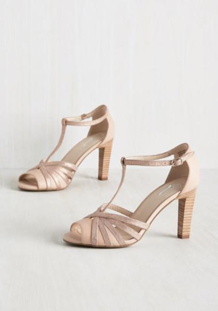 Seychelles heel rose gold rose gold cream shoes