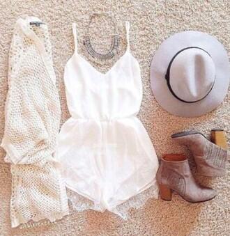 romper cream romper shorts lace romper statement pretty heart neckline top sweetheart neckline