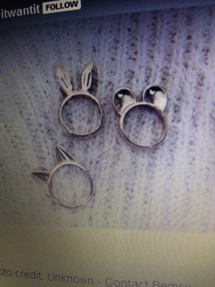 jewels gold cat ears ring mean girls bunny ears mouse ears