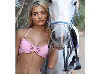 pink top swimwear bikini pink bikini string