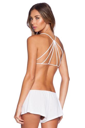 bra back strappy white