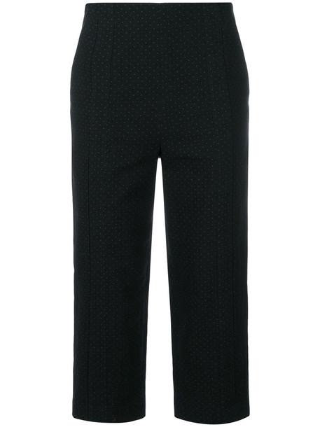 cropped women cotton black pants