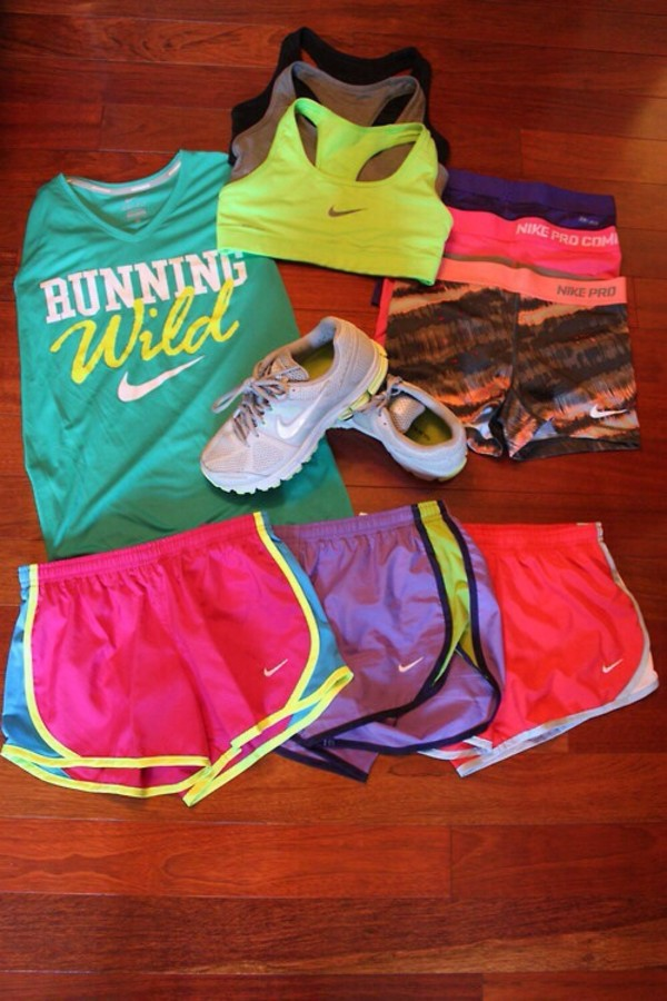 t-shirt shorts sportswear running workout