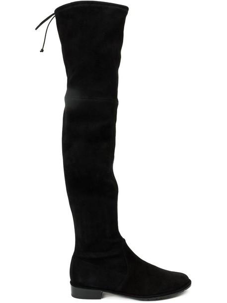 Stuart Weitzman 'Lowland' boots, Women's, Size: 36.5, Black, Leather/rubber
