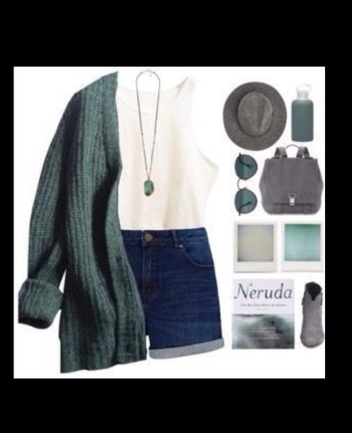 cardigan green gilet girl beautiful ouftit style