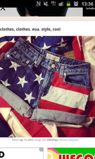 shorts high waisted shorts clothes american flag short usa
