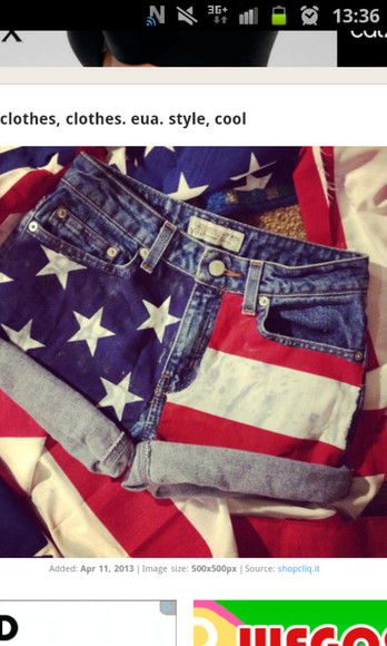 clothes usa flag shorts high waisted short short usa american flag