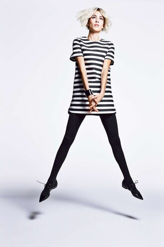 dress stripes alexa chung flats