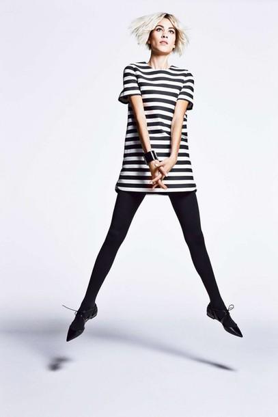 dress stripes alexa chung flats