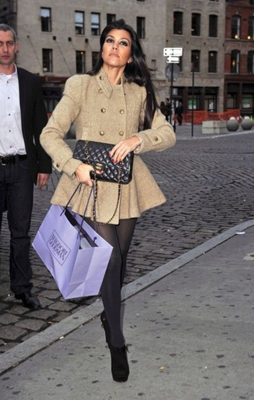 kourtney kardashian coat fit and flare