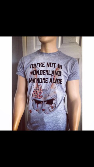 alice in wonderland quote on it t-shirt quote on t-shirt