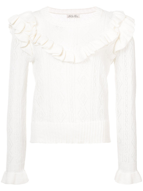 Love Shack Fancy jumper women nude cotton sweater