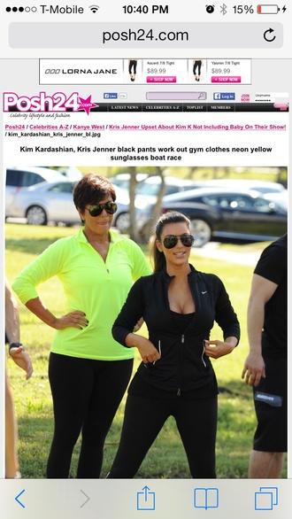 sunglasses kim kardashian jacket