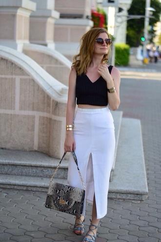 skirt white long