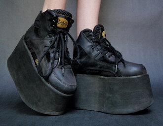 shoes buffalo platform shoes platform lace up boots grunge 90s style 90s grunge