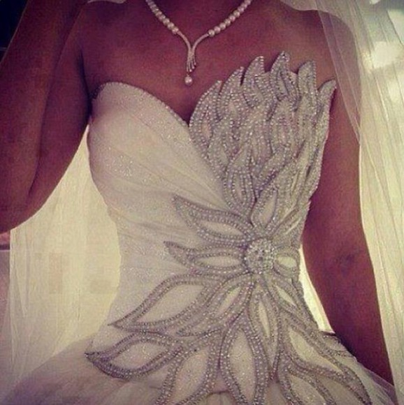 white dress wedding clothes white wedding white wedding dress sparkle rhinestone