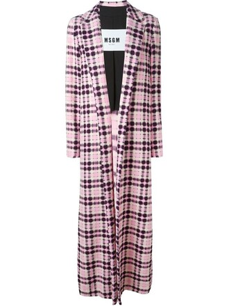 coat long coat long women cotton purple pink