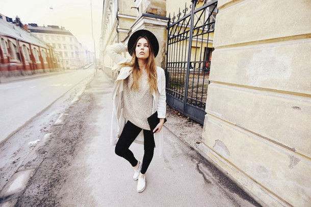 the next episode blogger trench coat coat sweater underwear shoes jeans bag