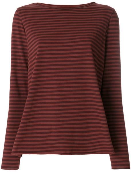 Labo Art top striped top women spandex cotton red