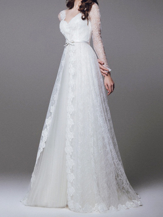 dress wedding dress wedding clothes white dress long wedding dress long white dress