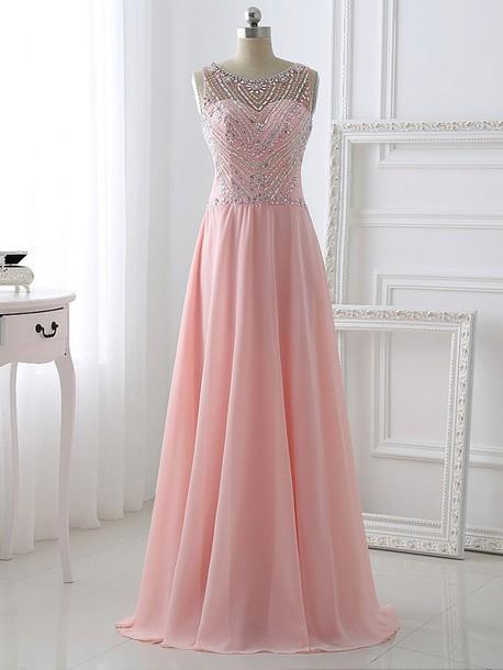 Pink Crystal Dresses