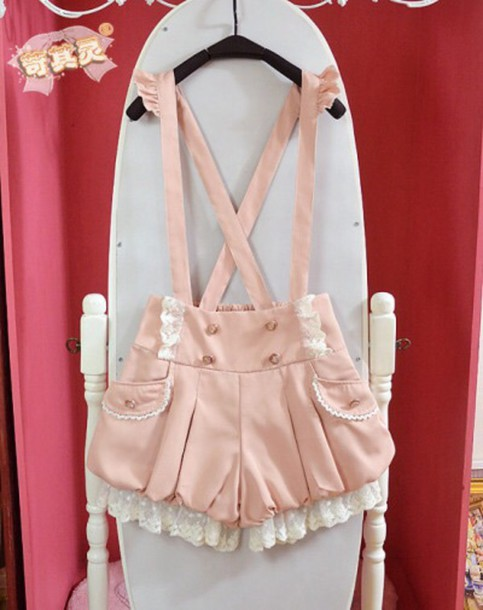 jumpsuit kawaii kawaii jumper jumper pink light pink pastel cute shorts