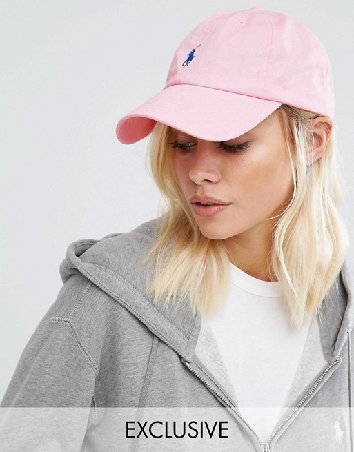 ae5af195 Polo Ralph Lauren Exclusive Cap in Pink at asos.com