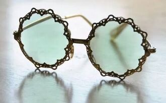jewels sunglasses round blue