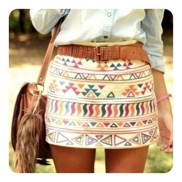skirt adorable socute tribal pattern iwantthis hipster