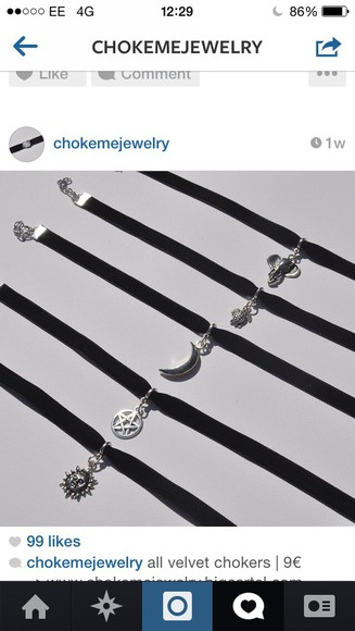 sun moon jewels turtle etc choker necklace