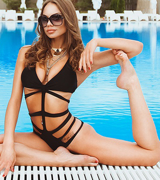 swimwear swimwear printed one piece swimsuit dope swimwear cut-out swimsuit caged swimsuit dope letter one piece swimsuit retro swimsuit summer summer outfits summer holidays summer beauty summer sports cute strappy strappy bikini