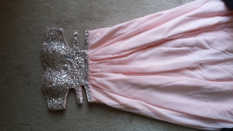 chiffon sweatheart beading prom prom dress beaded prom dress long prom dress pink silver dress
