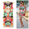 Printed sexy slim casual women dress 2014 summer new fashion o neck novelty dresses   34113