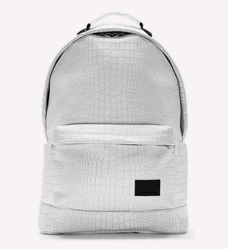 bag white backpack crocodile