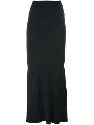 skirt maxi skirt maxi pleated back black
