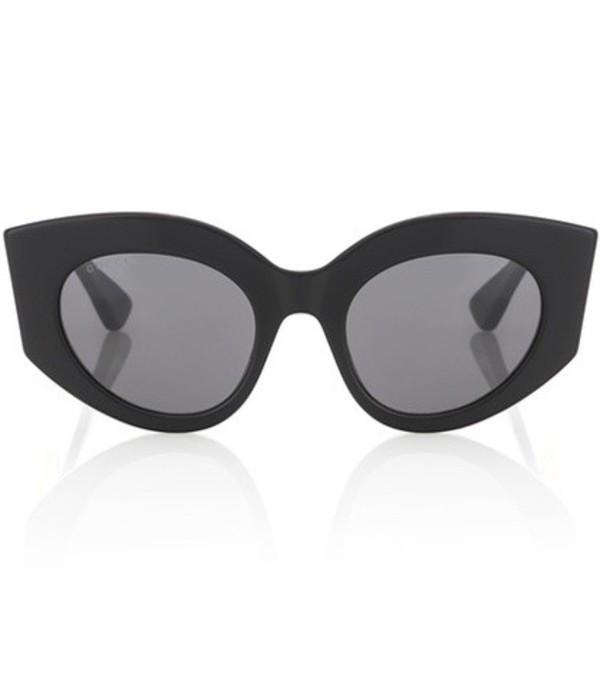 Gucci Oversized cat-eye sunglasses in black