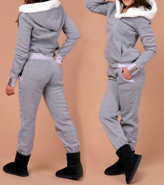 49e2e7ee5b59 pajamas active sporty sports leggings cozy winter outfits fall outfits grey