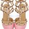 Valentino - pink two-tone rockstud heels
