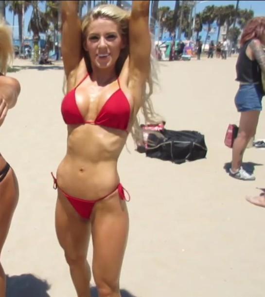 Swimwear Heidi Somers Buffbunny Red Bikini Red Bikini