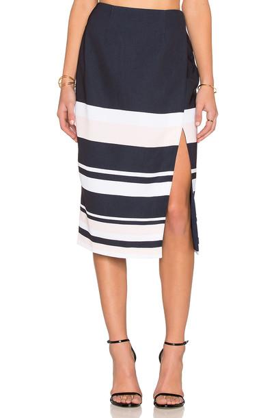 keepsake Split Decisions Skirt in white