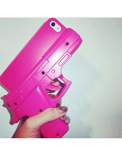 Gun iphone 5 5s 6 6s cool fashion killer 3d handgun pistol cover case