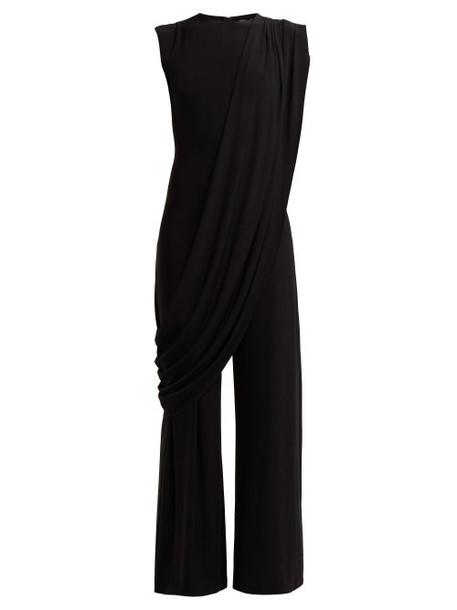jumpsuit draped black